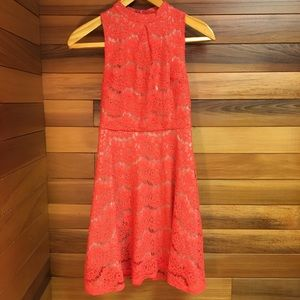 2/$20 Love Fire Fit and Flare Flower Lace Dress